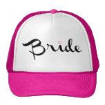 Escritura retra de la novia gorras de camionero