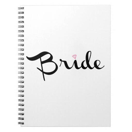 Escritura retra de la novia libro de apuntes