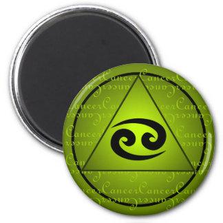 Escritura rizada del triángulo del verde de la mue iman de frigorífico