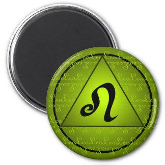 Escritura rizada del triángulo del verde de la mue iman de nevera