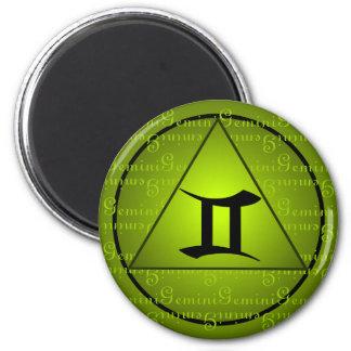 Escritura rizada del triángulo del verde del zodia imán para frigorifico