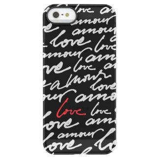 Escritura roja blanca negra del amor