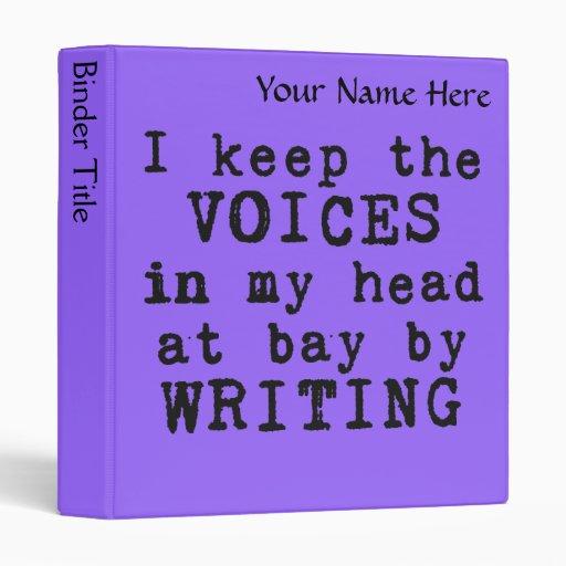 Escritura/voces carpetas púrpuras de Avery