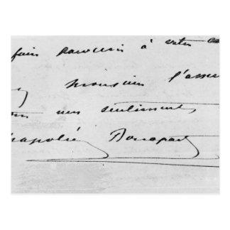 Escritura y firma postal