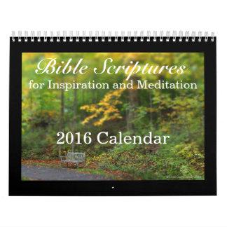 Escrituras de la biblia, inspiración y meditación calendarios de pared