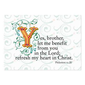 Escrituras de la biblia tarjetas de visita grandes