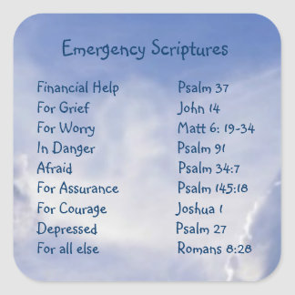 Escrituras de la información de emergencia para el pegatina cuadrada