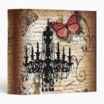 escrituras de la mariposa de la lámpara del vintag