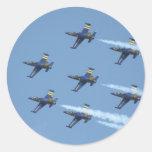Escuadrilla de aire Breitling en airshow Etiquetas Redondas