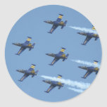 Escuadrilla de aire Breitling en airshow Etiqueta Redonda