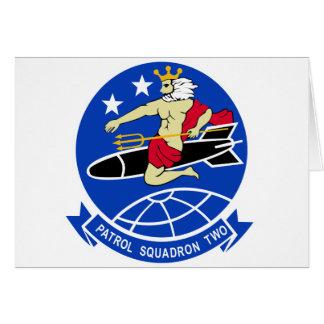 Escuadrilla de la patrulla VP-2 Tarjeta De Felicitación
