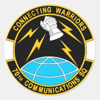 Escuadrilla de las comunicaciones de los E.E.U.U. Pegatina Redonda