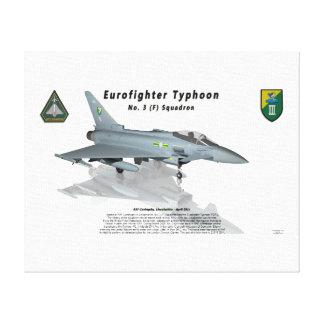 Escuadrilla de no. 3 del tifón de Eurofighter con  Impresión En Lona