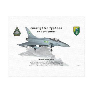 Escuadrilla de no. 3 del tifón de Eurofighter con  Lona Estirada Galerías