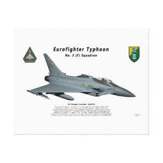 Escuadrilla de no. 3 del tifón de Eurofighter en v Impresión En Lona