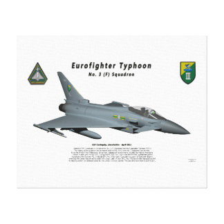 Escuadrilla de no. 3 del tifón de Eurofighter en v Impresión En Lona Estirada