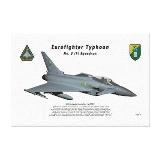 Escuadrilla de no. 3 del tifón de Eurofighter en v Lienzo Envuelto Para Galerías