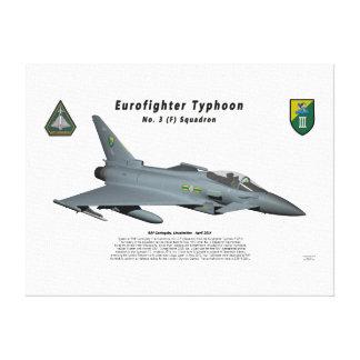 Escuadrilla de no. 3 del tifón de Eurofighter en v Impresiones En Lona