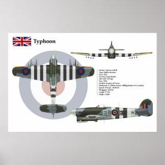 Escuadrilla del Mk 1B 181 del tifón Posters