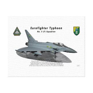 Escuadrilla del tifón No.3 de Eurofighter en rampa Impresiones En Lienzo Estiradas
