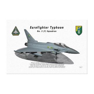 Escuadrilla del tifón No.3 de Eurofighter en rampa Impresión En Lona Estirada