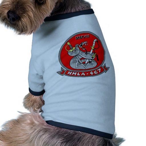 Escuadrilla ligera 467 del helicóptero de ataque camiseta de mascota