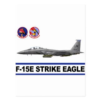 Escuadrón de caza de Eagle de la huelga de F-15E 4 Postales