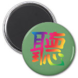 Escucha el carácter chino imán para frigorifico
