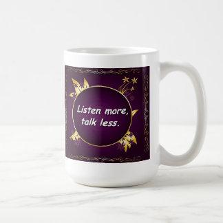 Escucha más, la charla menos. Taza rusa del Prover