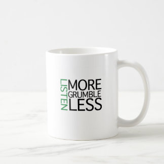Escucha más queja menos (la sabiduría verde) taza de café