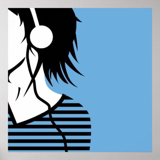 escuchan 2 la música _7 póster