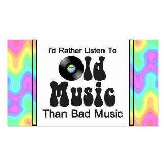 Escucharía bastante la vieja música que mala músic plantilla de tarjeta de negocio