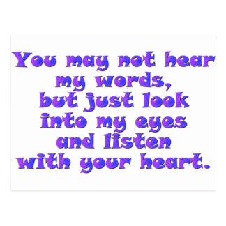 Escuche con su corazón tarjetas postales