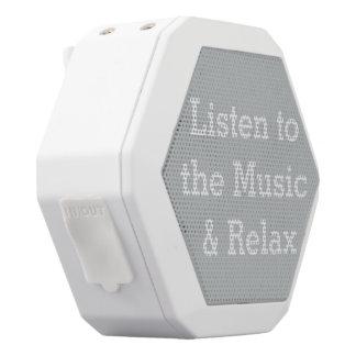 Escuche el altavoz de Boombot Rex de la música Altavoces Bluetooth Blancos Boombot REX