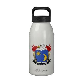 Escuche el escudo de la familia botellas de agua reutilizables