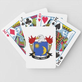 Escuche el escudo de la familia barajas de cartas