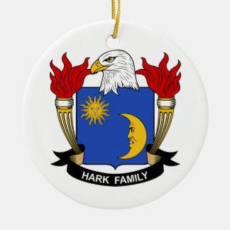 Escuche el escudo de la familia adornos de navidad