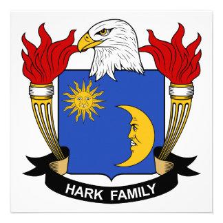 Escuche el escudo de la familia invitación