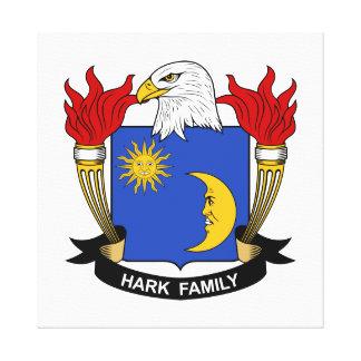 Escuche el escudo de la familia impresión de lienzo