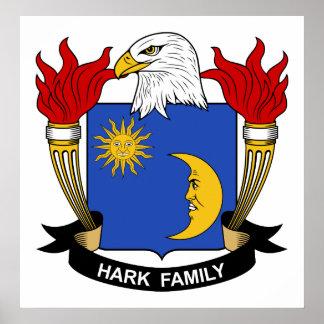 Escuche el escudo de la familia posters