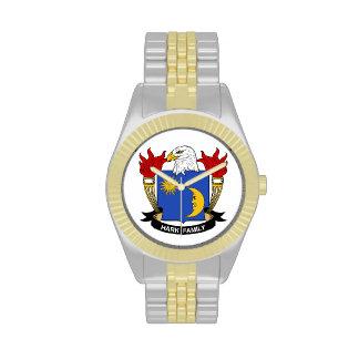 Escuche el escudo de la familia relojes