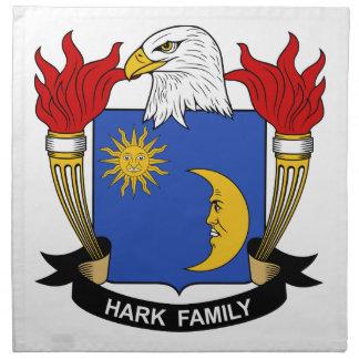 Escuche el escudo de la familia servilleta imprimida