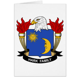 Escuche el escudo de la familia tarjetas