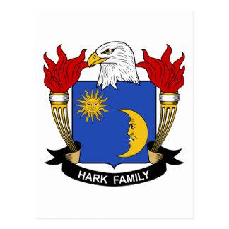 Escuche el escudo de la familia tarjeta postal