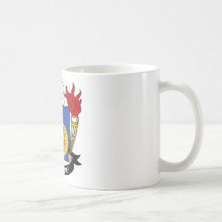 Escuche el escudo de la familia taza de café