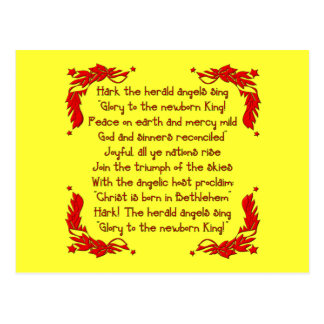 Escuche el herald que los ángeles cantan… postal