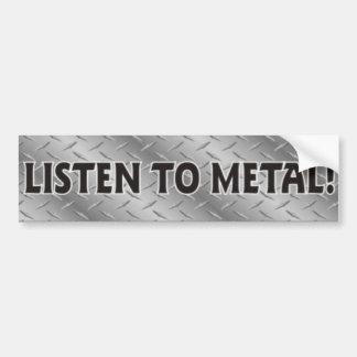 Escuche el metal, pegatina de metales pesados de l pegatina para auto