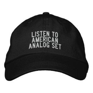 escuche el sistema americano del análogo gorros bordados