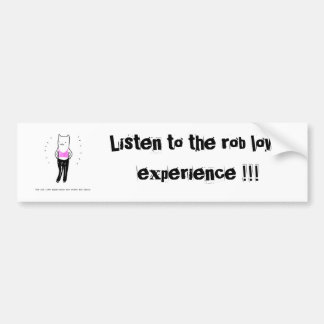 Escuche la experiencia del lowe del robo etiqueta de parachoque