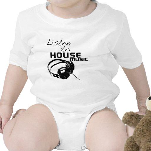 Escuche la música de la casa trajes de bebé